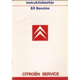 Citroen BX Instructieboekje   Benzine Fabrikant 87 ongebruikt   Nederlands