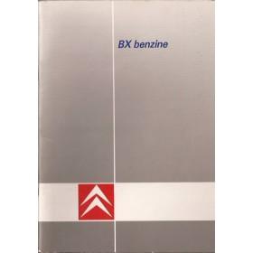Citroen BX Instructieboekje   Benzine Fabrikant 89 met gebruikssporen krassen op achterkaft  Nederlands