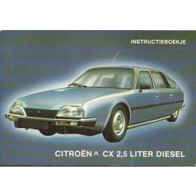 Citroen CX Instructieboekje  2.5 diesel Diesel Fabrikant 81 met gebruikssporen   Nederlands