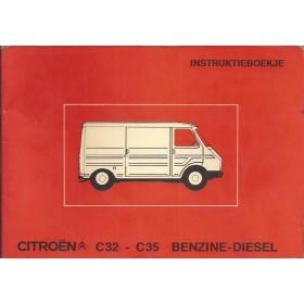 Citroen C32/C35 Instructieboekje   Benzine/Diesel Fabrikant 75 met gebruikssporen   Nederlands