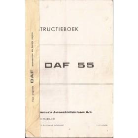 DAF 55 Instructieboekje   Benzine Fabrikant 71 met gebruikssporen kaft ontbreekt  Nederlands