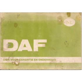 DAF Alle Serviceboekje   Benzine Fabrikant 74 met gebruikssporen   Nederlands