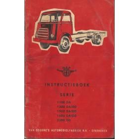 DAF vrachtwagen 1100/1300/1502/1600/3200 DA/DD Instructieboekje   Diesel Fabrikant 62 met gebruikssporen   Nederlands