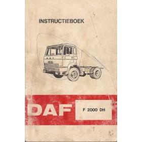 DAF vrachtwagen F2000 DH Instructieboekje   Diesel Fabrikant 72 met gebruikssporen krassen op kaft  Nederlands