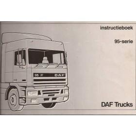 DAF vrachtwagen 95 Instructieboekje   Diesel Fabrikant 87 met gebruikssporen   Nederlands