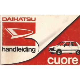 Daihatsu Cuore Instructieboekje   Benzine Fabrikant 82 met gebruikssporen   Nederlands