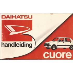 Daihatsu Cuore Instructieboekje   Benzine Fabrikant 83 met gebruikssporen   Nederlands