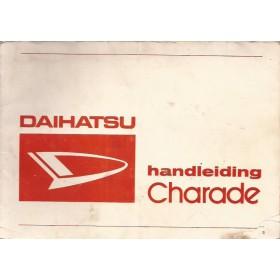 Daihatsu Charade Instructieboekje   Benzine Fabrikant 78 met gebruikssporen klein hoekje van kaft af  Nederlands
