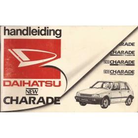 Daihatsu Charade Instructieboekje   Benzine/Diesel Fabrikant 86 met gebruikssporen   Nederlands