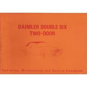 Daimler Double six 2-door Instructieboekje   Benzine Fabrikant 73 ongebruikt   Engels