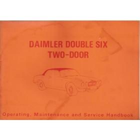 Daimler Double six 2-door Instructieboekje   Benzine Fabrikant 73 met gebruikssporen lichte vochtschade  Engels