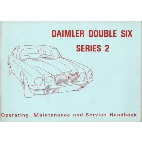 Daimler Double six serie 2 Instructieboekje   Benzine Fabrikant 73 ongebruikt   Engels