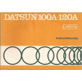 Datsun 100A/120A Instructieboekje  model E10 Benzine Fabrikant 74 met gebruikssporen   Nederlands