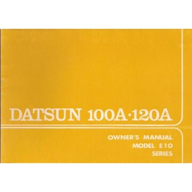 Datsun 100A/120A Instructieboekje  model E10 Benzine Fabrikant 75 ongebruikt   Engels