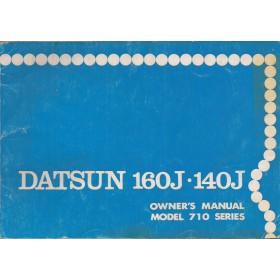 Datsun 160J/140J Instructieboekje  model 710 Benzine Fabrikant 75 met gebruikssporen   Engels