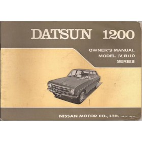 Datsun 1200 Instructieboekje  model B110 Benzine Fabrikant 70 ongebruikt   Engels