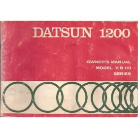 Datsun 1200 Instructieboekje  model B110 Benzine Fabrikant 71 met gebruikssporen lichte vochtschade  Engels