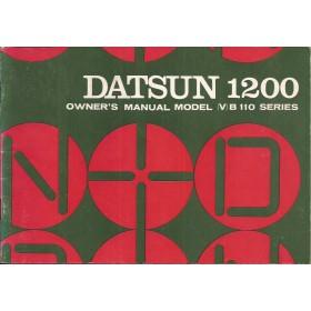 Datsun 1200 Instructieboekje  model B110 Benzine Fabrikant 71 met gebruikssporen   Engels