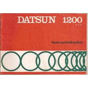 Datsun 1200 Instructieboekje  model B110 Benzine Fabrikant 72 ongebruikt   Nederlands
