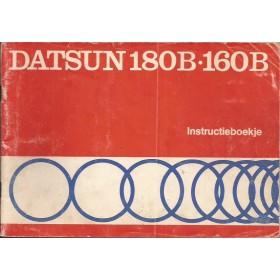 Datsun 180B/160B Instructieboekje   Benzine Fabrikant 75 met gebruikssporen notities op achterkaft  Nederlands