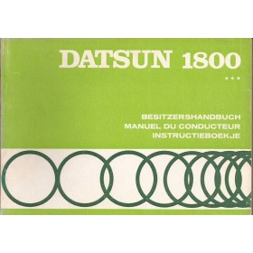 Datsun 1800 Instructieboekje  model C30 Benzine Fabrikant 71 ongebruikt   Nederlands/Duits/Frans