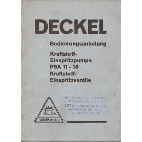 Deckel PSA 11-18 Instructieboekje   Diesel Fabrikant 52 ongebruikt   Duits