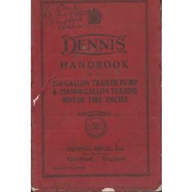 Dennis Trailer Pump Instructieboekje   - Fabrikant 38 met gebruikssporen   Engels