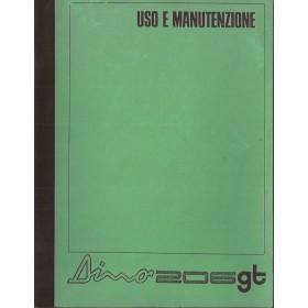 Ferrari Dino Instructieboekje   Benzine Fabrikant 68 ongebruikt originele kopie uitgegeven door Ferrari  Italiaans