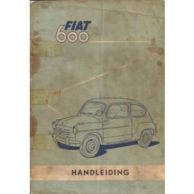Fiat 600D Instructieboekje   Benzine Fabrikant 58 met gebruikssporen losse kaft, losse pagina's  Nederlands