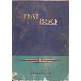 Fiat 850 Instructieboekje   Benzine Fabrikant 66 met gebruikssporen notities op achterkaft  Nederlands