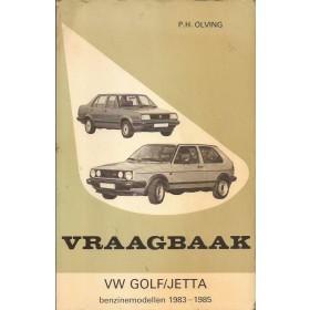 Volkswagen Golf/Jetta Vraagbaak P. Olving  Benzine Kluwer 83-85 met gebruikssporen   Nederlands