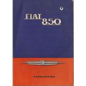Fiat 850 Instructieboekje   Benzine Fabrikant 67 met gebruikssporen   Nederlands