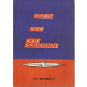 Fiat 850/850 Special Instructieboekje   Benzine Fabrikant 68 ongebruikt   Nederlands