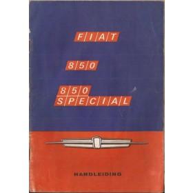 Fiat 850/850 Special Instructieboekje   Benzine Fabrikant 68 met gebruikssporen   Nederlands
