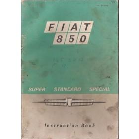 Fiat 850/850 Special Instructieboekje   Benzine Fabrikant 71 met gebruikssporen vette vingers  Engels