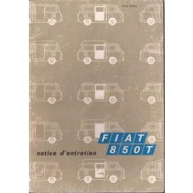Fiat 850T Instructieboekje   Benzine Fabrikant 73 met gebruikssporen vochtschade  Frans