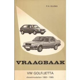 Volkswagen Golf/Jetta Vraagbaak P. Olving  Diesel Kluwer 83-85 met gebruikssporen   Nederlands