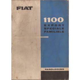 Fiat 1100 Instructieboekje   Benzine Fabrikant 62 met gebruikssporen vochtschade  Nederlands