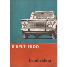 Fiat 1500 Instructieboekje   Benzine Fabrikant 67 met gebruikssporen   Nederlands