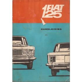 Fiat 125 Instructieboekje   Benzine Fabrikant 68 met gebruikssporen vochtschade  Nederlands