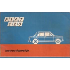 Fiat 128 Instructieboekje   Benzine Fabrikant 69 met gebruikssporen   Nederlands