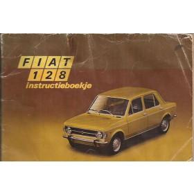 Fiat 128 Instructieboekje   Benzine Fabrikant 71 met gebruikssporen lichte vochtschade  Nederlands