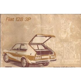 Fiat 128 3p Instructieboekje   Benzine Fabrikant 75 met gebruikssporen vochtschade  Nederlands