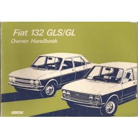 Fiat 132 Instructieboekje   Benzine Fabrikant 76 met gebruikssporen   Engels