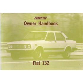 Fiat 132 Instructieboekje   Benzine Fabrikant 78 ongebruikt   Engels