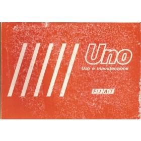 Fiat Uno Instructieboekje   Benzine Fabrikant 82 met gebruikssporen   Italiaans