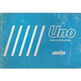 Fiat Uno Instructieboekje   Benzine/Diesel Fabrikant 84 met gebruikssporen   Nederlands