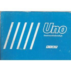 Fiat Uno Instructieboekje   Benzine/Diesel Fabrikant 85 met gebruikssporen   Nederlands