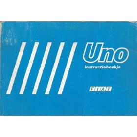 Fiat Uno Instructieboekje   Benzine/Diesel Fabrikant 87 met gebruikssporen   Nederlands