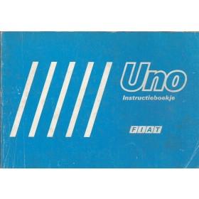 Fiat Uno Instructieboekje   Benzine/Diesel Fabrikant 88 met gebruikssporen   Nederlands